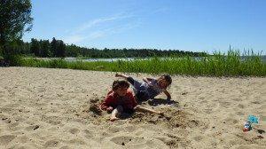 Nous profitons du soleil, journéé plage mais il ne fait que 15 °